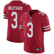 Wholesale Cheap Nike 49ers #3 C.J. Beathard Red Team Color Men's Stitched NFL Vapor Untouchable Limited Jersey