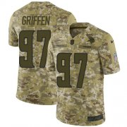 Wholesale Cheap Nike Vikings #97 Everson Griffen Camo Youth Stitched NFL Limited 2018 Salute to Service Jersey