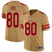 Wholesale Cheap Nike 49ers #80 Jerry Rice Gold Men's Stitched NFL Limited Inverted Legend Jersey