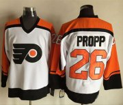 Wholesale Flyers #26 Brian Propp White/Black CCM Throwback Stitched NHL Jersey