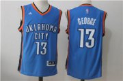 Wholesale Cheap Men's Oklahoma City Thunder #13 Paul George Royal Blue Stitched NBA Adidas Revolution 30 Swingman Jersey
