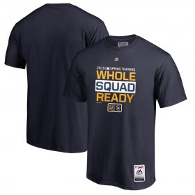 Wholesale Cheap Milwaukee Brewers Majestic 2019 Spring Training Authentic Collection T-Shirt Navy