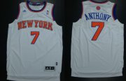 Wholesale Cheap New York Knicks #7 Carmelo Anthony Revolution 30 Swingman 2013 White Jersey
