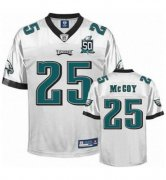 Wholesale Cheap Eagles #25 LeSean McCoy White Team 50TH Patch Stitched NFL Jersey