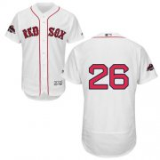 Wholesale Cheap Red Sox #26 Wade Boggs White Flexbase Authentic Collection 2018 World Series Champions Stitched MLB Jersey