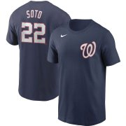 Wholesale Cheap Washington Nationals #22 Juan Soto Nike Name & Number T-Shirt Navy