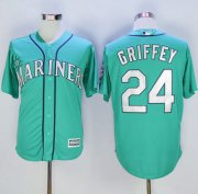 Wholesale Cheap Mariners #24 Ken Griffey Green New Cool Base Stitched MLB Jersey