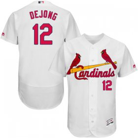 Wholesale Cheap Cardinals #12 Paul DeJong White Flexbase Authentic Collection Stitched MLB Jersey