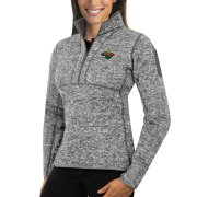 Wholesale Cheap Minnesota Wild Antigua Women's Fortune 1/2-Zip Pullover Sweater Black