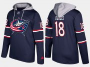 Wholesale Cheap Blue Jackets #18 Pierre-Luc Dubois Navy Name And Number Hoodie
