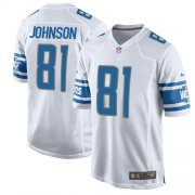 Wholesale Cheap Nike Lions #81 Calvin Johnson White Youth Stitched NFL Elite Jersey