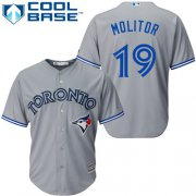 Wholesale Cheap Blue Jays #19 Paul Molitor Grey Cool Base Stitched Youth MLB Jersey