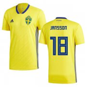 Wholesale Cheap Sweden #18 Jansson Home Soccer Country Jersey