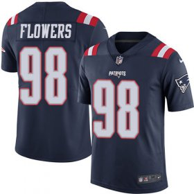 Wholesale Cheap Nike Patriots #98 Trey Flowers Navy Blue Youth Stitched NFL Limited Rush Jersey