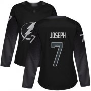 Cheap Adidas Lightning #7 Mathieu Joseph Black Alternate Authentic Women's Stitched NHL Jersey