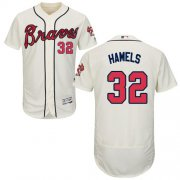 Wholesale Cheap Braves #32 Cole Hamels Cream Flexbase Authentic Collection Stitched MLB Jersey