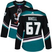 Wholesale Cheap Adidas Ducks #67 Rickard Rakell Black/Teal Alternate Authentic Women's Stitched NHL Jersey