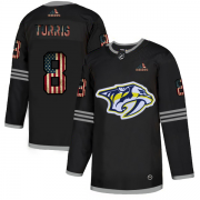 Wholesale Cheap Nashville Predators #8 Kyle Turris Adidas Men's Black USA Flag Limited NHL Jersey