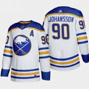 Cheap Buffalo Sabres #90 Marcus Johansson Men's Adidas 2020-21 Away Authentic Player Stitched NHL Jersey White