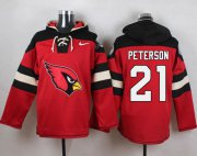 Wholesale Cheap Nike Cardinals #21 Patrick Peterson Red Player Pullover NFL Hoodie