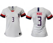 Wholesale Cheap Women's USA #3 Mewis Home Soccer Country Jersey