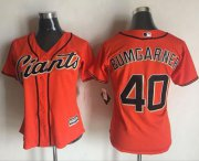 Wholesale Cheap Giants #40 Madison Bumgarner Orange Women's Alternate Stitched MLB Jersey