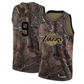Wholesale Cheap Nike Los Angeles Lakers #9 Rajon Rondo Camo NBA Swingman Realtree Collection Jersey