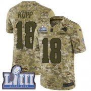 Wholesale Cheap Nike Rams #18 Cooper Kupp Camo Super Bowl LIII Bound Youth Stitched NFL Limited 2018 Salute to Service Jersey