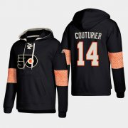 Wholesale Cheap Philadelphia Flyers #14 Sean Couturier Black adidas Lace-Up Pullover Hoodie
