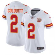 Wholesale Cheap Nike Chiefs #2 Dustin Colquitt White Women's Stitched NFL Vapor Untouchable Limited Jersey