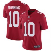 Wholesale Cheap Nike Giants #10 Eli Manning Red Alternate Men's Stitched NFL Vapor Untouchable Limited Jersey