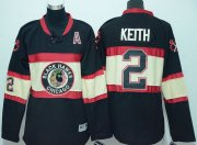 Wholesale Cheap Blackhawks #2 Duncan Keith Black Stitched New Third Youth NHL Jersey