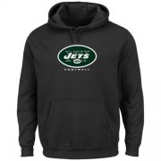 Wholesale Cheap New York Jets Critical Victory Pullover Hoodie Black