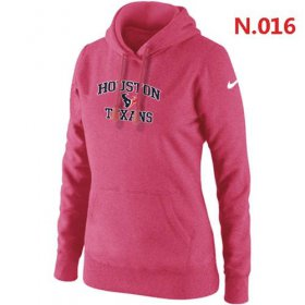 Wholesale Cheap Women\'s Nike Houston Texans Heart & Soul Pullover Hoodie Pink