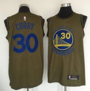 Wholesale Cheap Golden State Warriors #30 Stephen Curry Olive Nike Swingman Jersey