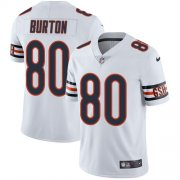 Wholesale Cheap Nike Bears #80 Trey Burton White Men's Stitched NFL Vapor Untouchable Limited Jersey