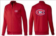 Wholesale Cheap NHL Montreal Canadiens Zip Jackets Red