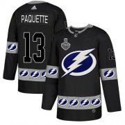 Wholesale Cheap Adidas Lightning #13 Cedric Paquette Black Authentic Team Logo Fashion 2020 Stanley Cup Final Stitched NHL Jersey