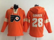 Wholesale Cheap Philadelphia Flyers #28 Claude Giroux Orange Pullover NHL Hoodie