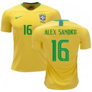 Wholesale Cheap Brazil #16 Alex Sandro Home Soccer Country Jersey