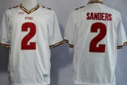 Wholesale Cheap Florida State Seminoles #2 Deion Sanders 2013 White Jersey
