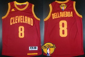 Wholesale Cheap Men\'s Cleveland Cavaliers #8 Matthew Dellavedova 2017 The NBA Finals Patch Red Jersey