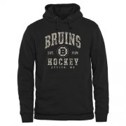 Wholesale Cheap Men's Boston Bruins Black Camo Stack Pullover Hoodie