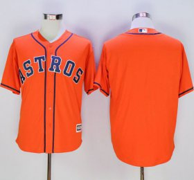 Wholesale Cheap Astros Blank Orange New Cool Base Stitched MLB Jersey