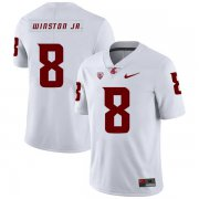 Wholesale Cheap Washington State Cougars 8 Easop Winston Jr. White College Football Jersey