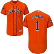 Wholesale Cheap Astros #1 Carlos Correa Orange Flexbase Authentic Collection 2019 World Series Bound Stitched MLB Jersey