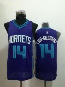 Wholesale Cheap Charlotte Hornets #14 Michael Kidd-Gilchrist Purple Swingman Jersey