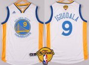 Wholesale Cheap Men's Golden State Warriors #9 Andre Iguodala White 2016 The NBA Finals Patch Jersey