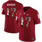 Wholesale Cheap Washington State Cougars 17 Kassidy Woods Red Fashion College Football Jersey