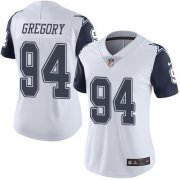 Wholesale Cheap Nike Cowboys #94 Randy Gregory White Women's Stitched NFL Limited Rush Jersey